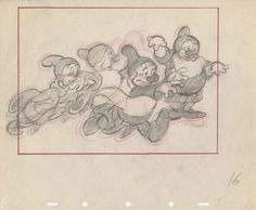 Production Layout Drawing from Snow White And The Seven Dwarfs