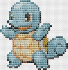 Pokemon Squirtle Pattern by GeekChicStitchery on Etsy, $5.00