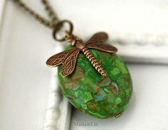 """""""Spring Feelings"""" Bronze Necklace  w MadamLili ♥  Radość życia do noszenia ♥  na DaWanda.com"""
