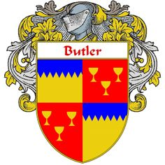Butler Coat of Arms     http://irishcoatofarms.org/ has a wide variety of products with your surname with your coat of arms/family crest, flags and national symbols from England, Ireland, Scotland and Wale