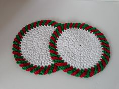 8월의 크리스마스 코스터 : 네이버 블로그 Crochet Earrings, Knitting, Holiday, Jewelry, Coasters, Pot Holders, Crochet Stitches, Dots, Xmas
