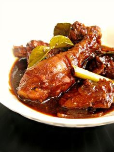Ayam Masak Kicap, chicken cooked in soya sauce