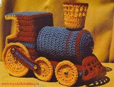 Вязаный паровоз   развивающая игрушка!