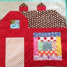 dream quilt create: The Quilty Barn Along, Bitty Scrap Around Block