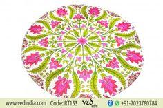 Floral Indian Hippie Mandala Roundie Beach Towel Tapestry Gypsy Round Cotton Boho Throw