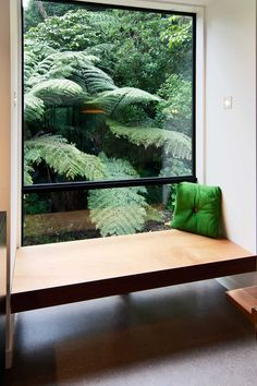 Nice idea for picture window in the upstairs living room - with bench seat