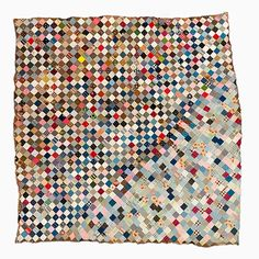 This antique (1880-1920) quilt has a very modern appeal! I love the color change and random sewing! Unique Quilt Top – One patch | Mingei