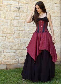 Burgundy Pixie Skirt Renaissance Costume door CrystalKittyCat, $47,00
