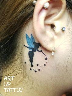 #tattoo #tattoos #tattooart #tattooartist #tattooshop #art #bodyart #ink #ear  #OnePoint #タトゥー #タトゥースタジオ #インク #アート #ボディアート #アートアップタトゥー #耳の後ろのタトゥー #ティンカーベル  #ワンポイント #東京タトゥー #日野タトゥー #祐 #女性 #女性彫師