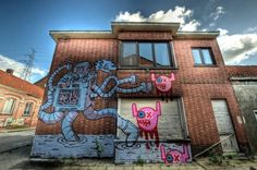 Amazing Street Art and a Abandoned village Doel
