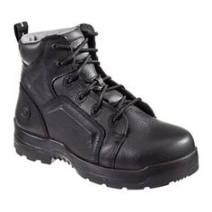 Rockport Works More Energy Lace To Toe Safety Toe Work Boots for Men - Black  - a98feb16c93