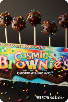 @Kathy Davis-Reid Debbie Cosmic Brownie Pops. So easy and fun to make and decorate. from @pintsizedbaker