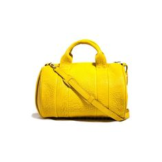 Pre-Owned  Alexander Wang Women's Shoulder Bags ($426) ❤ liked on Polyvore featuring bags, handbags, shoulder bags, yellow purse, alexander wang handbags, pre owned handbags, gold purse and yellow shoulder bag