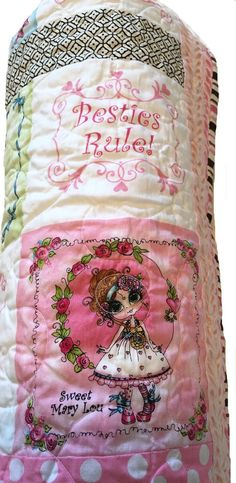 Little Girl Quilt  Besties  41.5 x 46.5 by clubaloha on Etsy