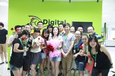 Dean & Fulin with some of the DJ team after the proposal