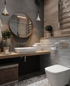 If you want to have an industrial bathroom the key factor is to take the edge of the harsh industrial look. Bathroom design Creating A Convenient Industrial Bathroom - House Topics House Bathroom, Bathroom Renos, Interior, Best Bathroom Designs, Home Decor, House Interior, Modern Bathroom, Amazing Bathrooms, Bathroom Inspiration
