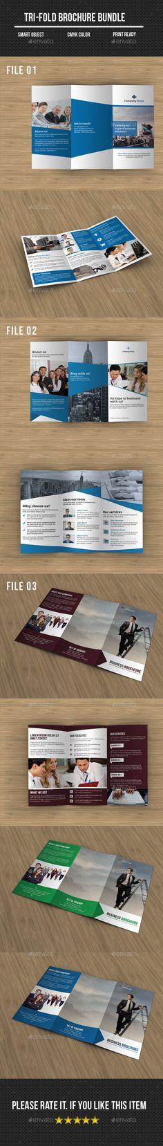 Corporate Tri- Fold Brochure Bundle - Corporate Brochure Template PSD. Download here: http://graphicriver.net/item/corporate-tri-fold-brochure-bundle/11694985?s_rank=1791&ref=yinkira