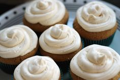 William Henry Harrison Cupcake. Apple cake with apple whipped cream and whiskey buttercream frosting.