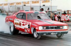 The MONGOOSE Plymouth Duster Funny Car burnout