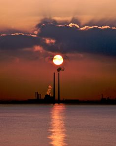 The Poolbeg Generating Station, aka, The Pigeon House, is one of the tallest structures in Ireland and is visible from most of Dublin city.