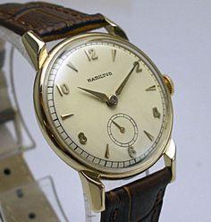 Stunning-1949-14K-Solid-Gold-HAMILTON-KIRK-747-Mens-Watch on ebay