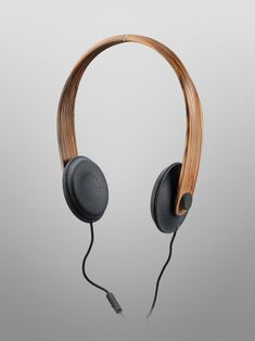 Slimline headphone design. bois densifié / Helsinki 2012. #headphones #cans http://www.pinterest.com/TheHitman14/headphones-microphones-%2B/