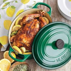 Recipes | Roast Chicken with Lemon and Herbs | Sur La Table