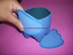 Como fazer potinho de garrafa pet e eva
