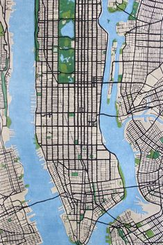 A Plush Rug Recreates the Grids and Greenways of Manhattan in Colorful Wool | Colossal