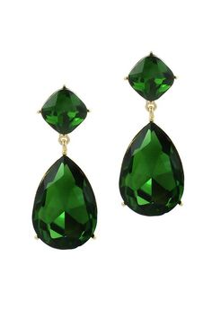 Classic Emerald Andrea Earrings   Emma Stine Jewelry Earrings