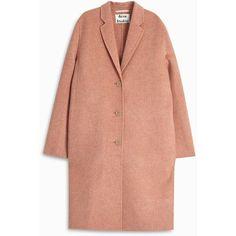 Acne Studios Avalon Double Coat ($1,105) ❤ liked on Polyvore featuring outerwear, coats, jackets, coats & jackets, tops, acne studios, longline coat, red coat, long oversized coat and long coat