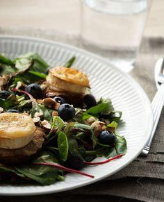 Salade Chevre Chaud - Opskrift på lækker salat med gedeost
