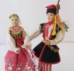 Polish Miniature Souvenir Costume Couple Doll by SaturdayMorningM