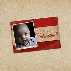 Valentine's Day Photo Card  Custom 4X6 by LilMonkeysDesigns, $13.00
