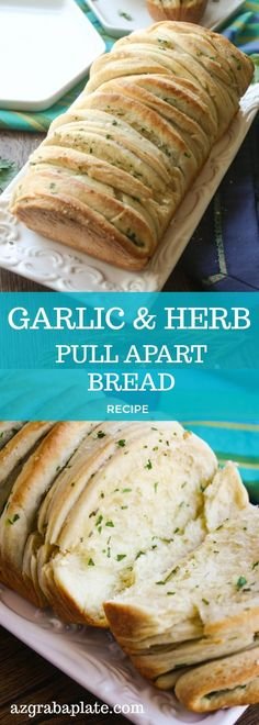 & Herb Pull Apart Bread Garlic & Herb Pull Apart Bread is a fun treat. No cutting, simply pull and enjoy all the great flavors!Garlic & Herb Pull Apart Bread is a fun treat. No cutting, simply pull and enjoy all the great flavors! Artisan Bread Recipes, Easy Bread Recipes, Cooking Recipes, Cooking Tips, Quick Bread, Bread Machine Recipes Healthy, Pull Apart Garlic Bread, Pull Apart Bread, Sépareur Le Pain