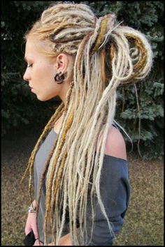 blonde dreadlocks with lowlights
