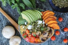A delicious balance bowl filled with natural goodness, for the perfect balanced lifestyle. Lupin kibble making you feel fuller for longer. High Fibre, Low Gi, Diabetic Friendly, High Protein, Cobb Salad, Cantaloupe, Lunch, Make It Yourself, Dinner