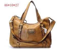 New Coach Madison Signature Metallic Shoulder Bag Brown