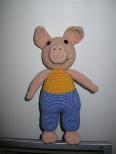 Pig  PDF crochet pattern by Fjukten on Etsy,