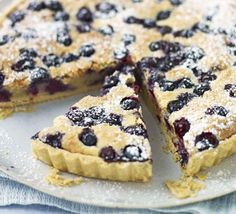 Blueberry & almond tart - Mary Cadogan's shortcrust pastry case recipe as the base for this gorgeous summery tart