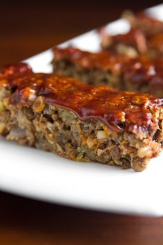 Glazed Lentil Walnut Apple Loaf - I found my lentil loaf. This one is a keeper! Delicious! Lots of room to play with the flavors, sticks together nicely, over all just perfect. The meat eater agrees. :D ~SB