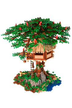 Lego Tree House, Lego Creative, Cool Lego Creations, Lego Worlds, Lego News, Everything Is Awesome, Lego Moc, Lego Instructions, Lego Building