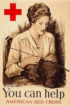 American Red Cross knitter  (and I did...in Jr. High a group of girls volunteered to 'knit for Britain' after school. (WWII)