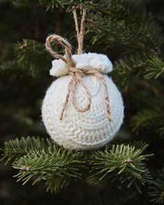DIY recycled sweater ornament from Susan Tuttle Photography