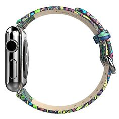 Apple Watch Band, Creazy® Genuine Leather Loop Type Watch Band Strap For AppleWatch 42mm (Green) Check https://www.carrywatches.com