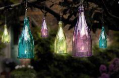 coloured tea light bottles