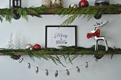 A Christmas banner m