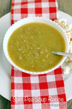 Split Pea Soup Recipe - the best comfort food | NoBiggie.net