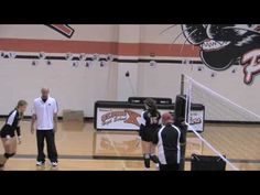 Volleyball Hitting at Net