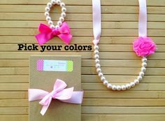 Custom shabby chic jewelry set - light pink & bubblegum pink - pick your colors -  by MissSweetPeaBoutique, $20.00